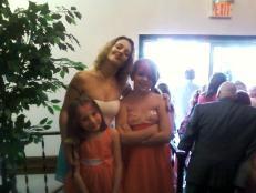 my girls and i leaving church last sunday