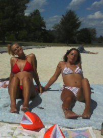My best friend Sissy and I at Claytor Lake - 2011 - a post about the lake is before this