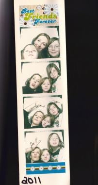 my girls and i at the mall - 2011. been wanting to scan this for almost 2 years. lol