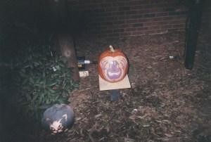pumpkins carved in b-burg