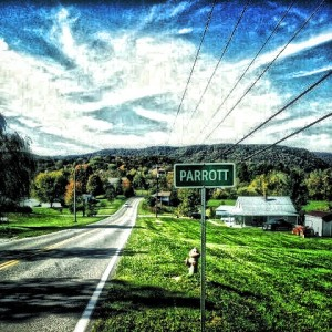 A photo as you're driving into Parrott. My wonderful friend played around with the image to give it his individual style.