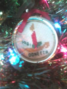 my ornament i made in 1981 - kindergarten