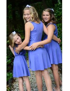 From Left to Right: My daughter Olivia, their step sister, Natalie, and my daughter, Madison.    The next photo should be of their half brother, Nathan. Their step sister, Emily isn't pictured in these.