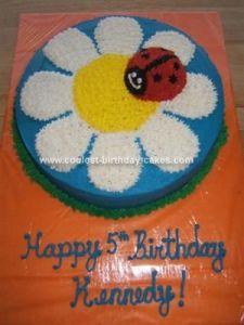 flat ladybug cake