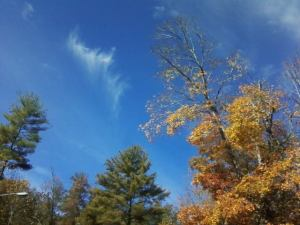 Celebrating the gorgeous fall day at Wolf Creek Indian Village, Bastian, Virginia -October 2013
