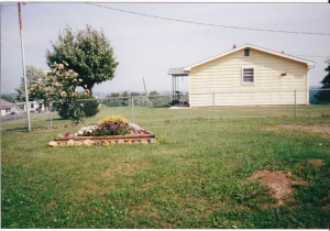 This was my flower bed in 2000.  Hoping to make it better this year.